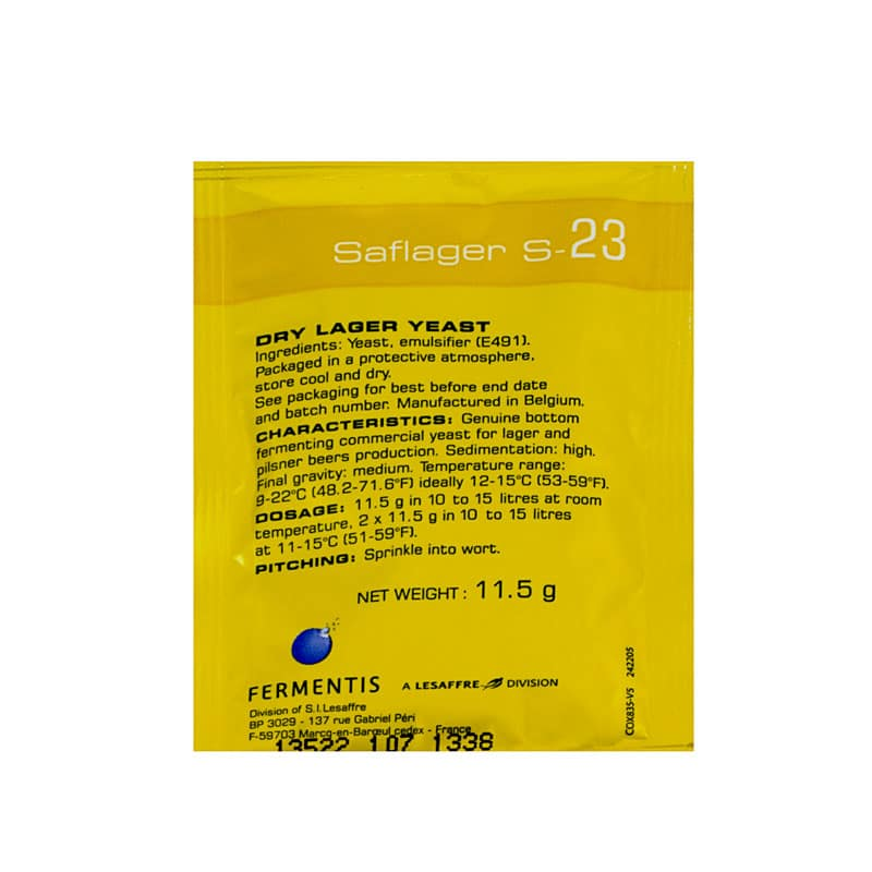 Beer Yeast Saflager S-23