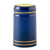 Shrink Caps Blue gold stripe (30)