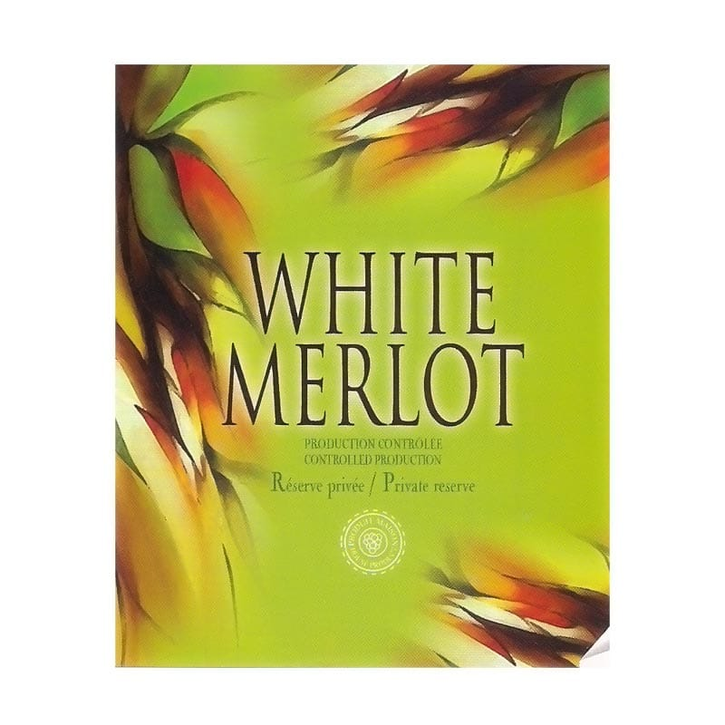 Self-adhesive Labels  White Merlot