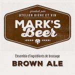 Mark's Beer – Brown Ale –  1 gallon