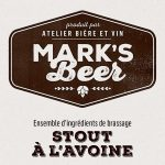 Mark's Beer – Stout –  1 gallon